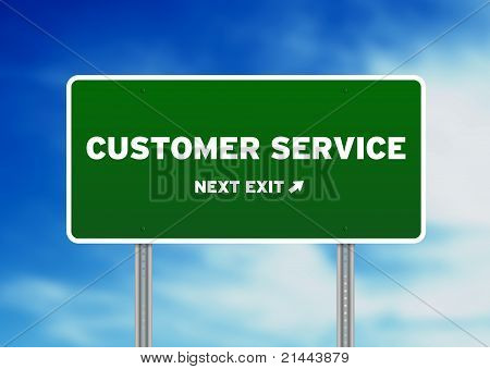 Customer Service Highway Sign