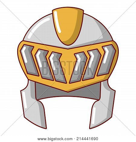 Knight helmet medieval icon. Cartoon illustration of knight helmet medieval vector icon for web