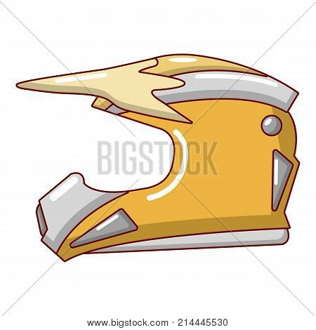 Motorcycle helmet icon. Cartoon illustration of motorcycle helmet vector icon for web