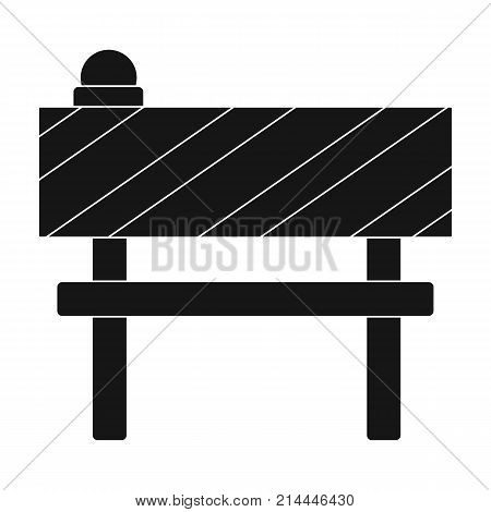 Barrier single icon in black style.Barrier vector symbol stock illustration .