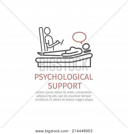 Psychological counseling line icon. Vector signs for web graphics
