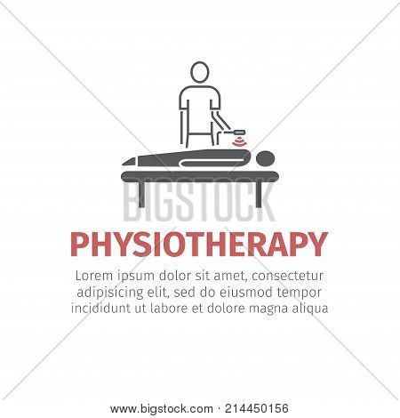 Therapy ultrasound. Vector signs for web graphics