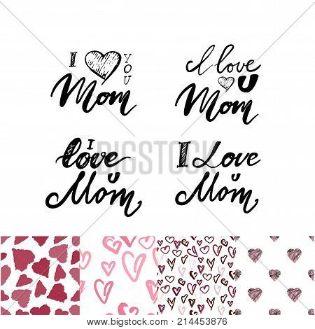 I love you mom.  Hand lettering and custom typography