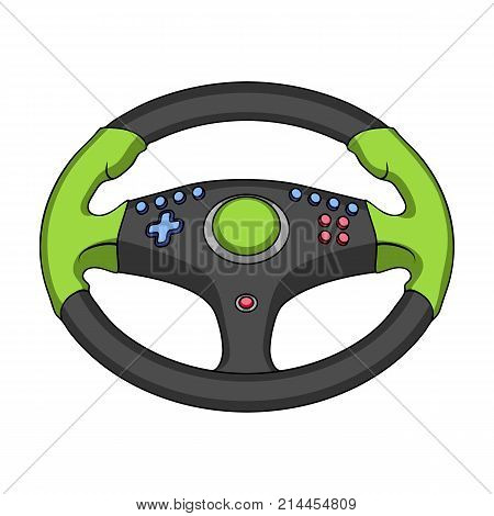 Game steering wheel single icon in cartoon style for design.Car maintenance station vector symbol stock  illustration.