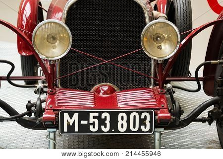 Prague, Czech Republic - November 10: Wikow 7/28 Sport Racing Car From 1929 Stands In National Techn