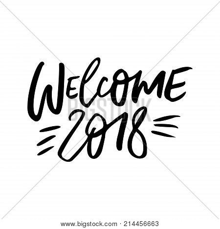 Welcome, 2018 - Vector & Photo (Free Trial) | Bigstock