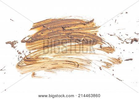 Drops of mud splashes isolated on a white backgrounds