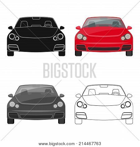 Car single icon in cartoon, outline, black style for design.Car maintenance station vector symbol stock illustration .