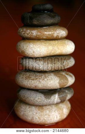 Zen Stones Pouring Water