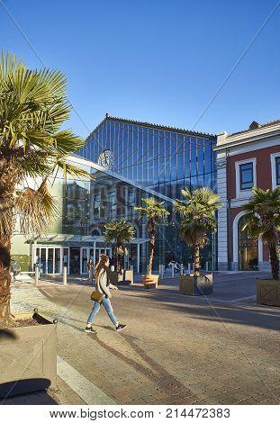 Principe Pio Shopping Mall In The Former Estacion Del Norte.