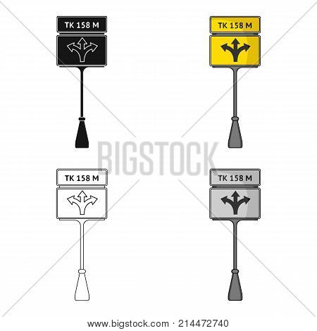 Sign single icon in cartoon style.Sign vector symbol stock illustration .