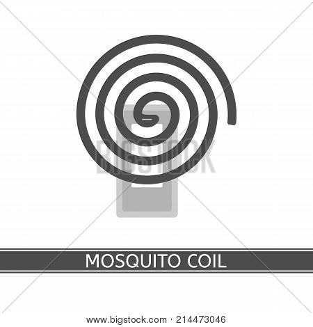 Vector illustration of mosquito repellent coil isolated on white background in flat style
