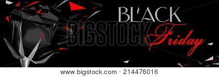 black Friday (vertical banner with black rose)