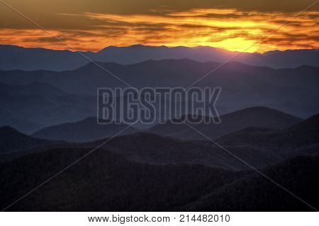 Sunset On The Blue Ridge Parkway