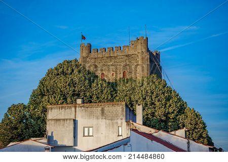 Top of antique Fort Castillo of Braganza in Portugal