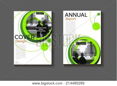 green Circle abstract background modern cover design modern book cover Brochure cover templateannual report magazine and flyer layout Vector a4
