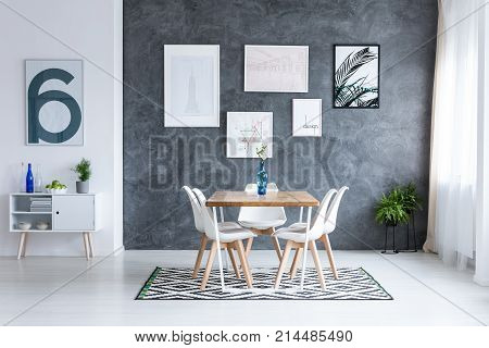 Dining Room With Square Table