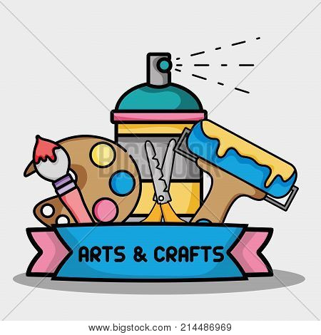 creative object to art and craft design vector illustration
