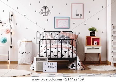 Pastel Pillows On Girl's Bed