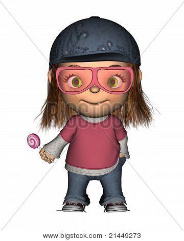 Toon Kid with Lollipop