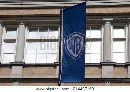 Warner Bross Flag In Amsterdam