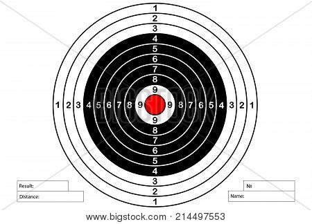 Vector target for rifle and archery, vector