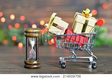 Abstract image of last minute Christmas shopping
