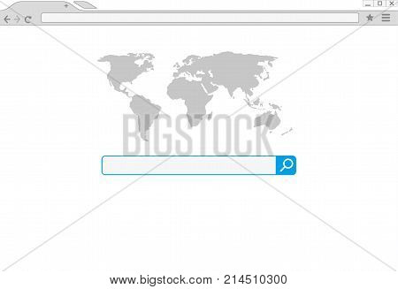 Browser window vector illustration. Chrome web browser in flat style