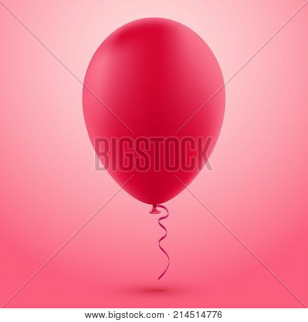 Red Vector Balloon Isolated On Red Background Realistic Balloon Illustration For Party Celebration Festival Birthday Or Branding Design Decoration Poster Id 214514776