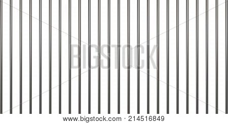 Prison bars isolated on white. Vector illustration. Way out to freedom concept