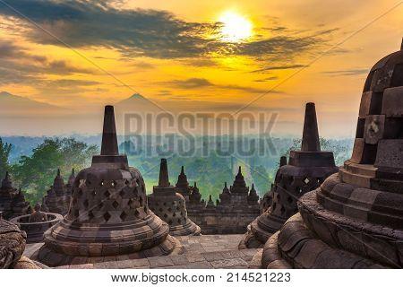 Candi Borobudur, Yogyakarta, Jawa, Indonesia.