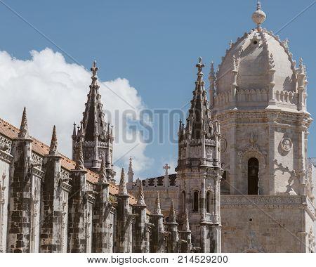 Jeronimos Monastery Or Hieronymites Monastery In Lisbon.