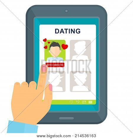 Dating Girl Chooses Guy On Tablet