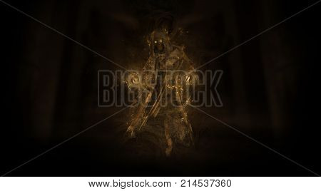 3d render of a ghost ghoul fantasy character