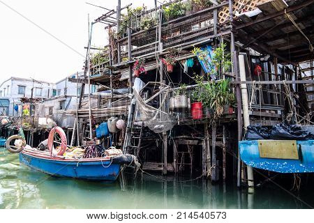 Stilt Houses In Tai O Fishing Village, Hong Kong