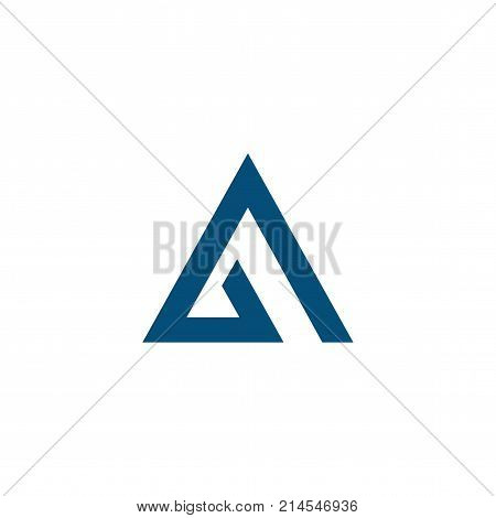 A Letter Abstract mountain logo, flat logo template