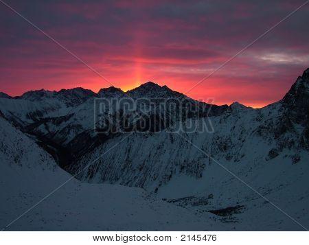 Sunrise Mount Arshan East Sayan Mountains Siberia poster