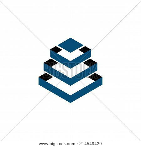 Square Building abstract Logo vector template, simple logo