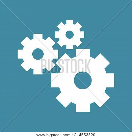 Cogwheel Gear Mechanism Vector Settings Vector Icon