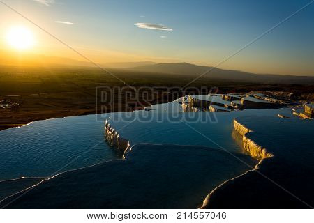 Beatiful Sunset In Pamukkale Valley