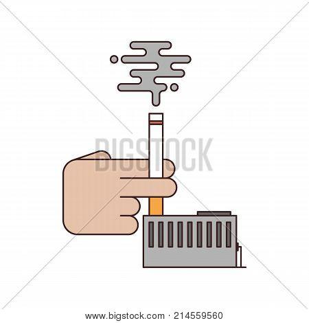 No smoking and anti tobacco concept flat design vector illustration