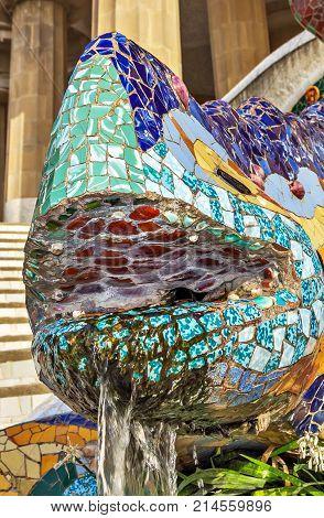 Dragon Salamandra Antoni Gaudi, Barcelona