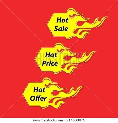 Hot Sale banner.Hot Price banner.Hot Offer banner.Vector illustration.