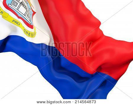 Waving Flag Of Sint Maarten