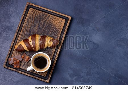 Chocolate Croissant, Coffee And Chocolatier