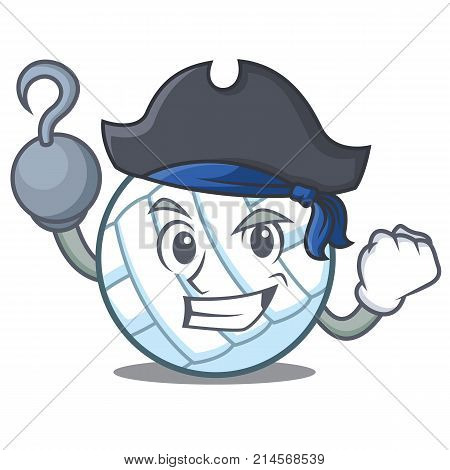 Pirate volley ball character cartoon vector illustration