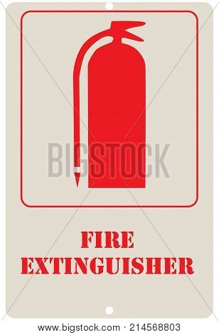 Sign board is a wall sign board Fire Extinguisher. Sign board is clearly displays