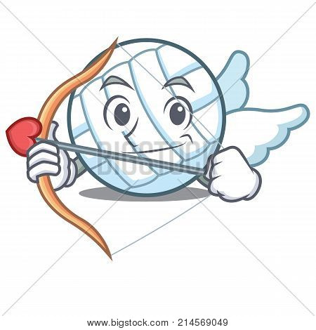 Cupid volley ball character cartoon vector illustration