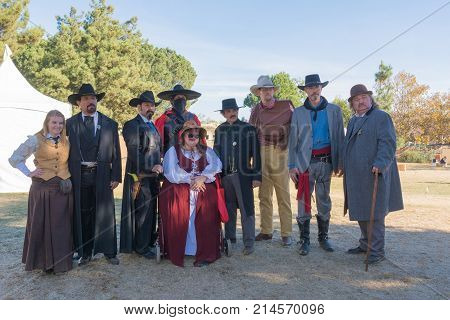 Participants With Typical Clothing During Tumbleweed Festival
