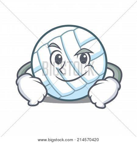 Smirking volley ball character cartoon vector illustration